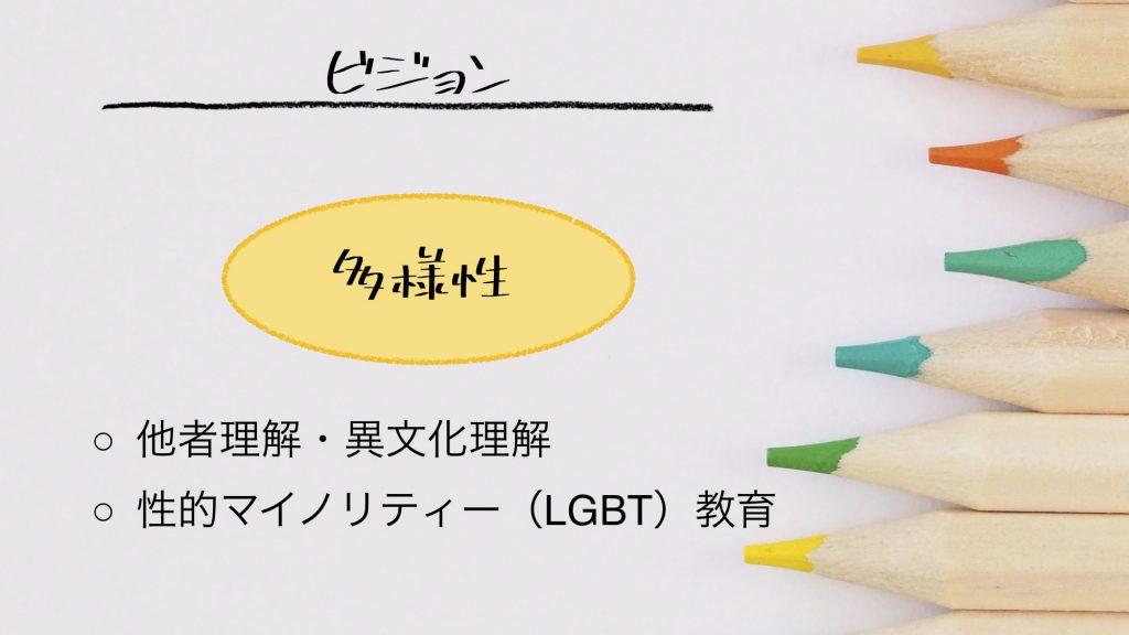 多様性、他者・異文化理解、性的マイノリティー教育